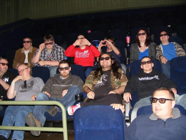 Having scared them away, we had the theater to ourselved