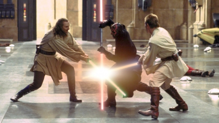 phantom menace light saber battle