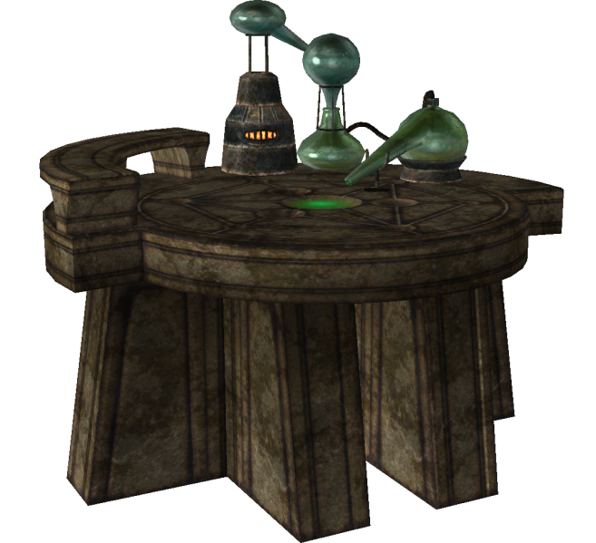 skyrim alchemy table