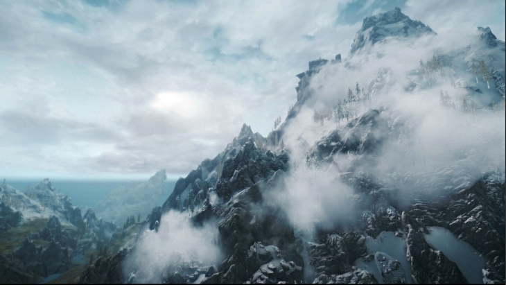 skyrim throat of the world mountain